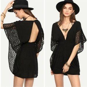 Victoria Secret Black Caftan coverup size Small